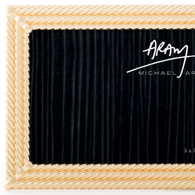 Michael Aram Twist Frame Gold 5X7""