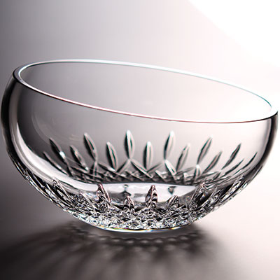 "Waterford Crystal, Lismore Essence Angled Round 9"" Crystal Bowl"