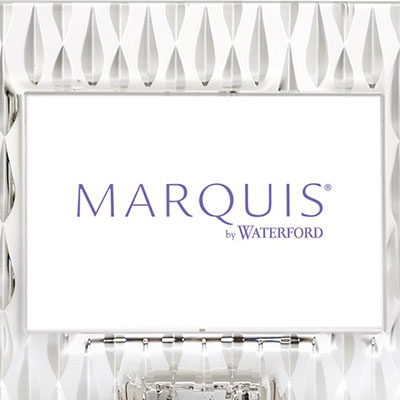 "Marquis By Waterford Rainfall 4x6"" Picture Frame, Landscape"