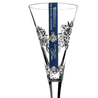 Waterford Snowflake Wishes Friendship Clear Flute, Single