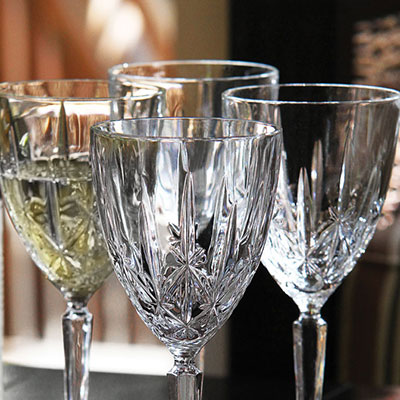 Marquis by Waterford Crystal, Sparkle Crystal White Wine, Set of Four