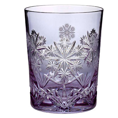 Waterford Crystal, Snowflake Wishes Serenity Lavender DOF Tumbler, Single
