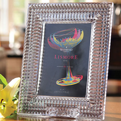 "Waterford Crystal, Lismore Diamond 5x7"" Picture Frame"