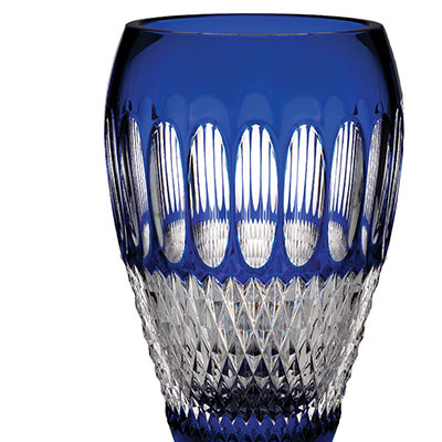 "Waterford Crystal, Colleen 60th Anniversary Cobalt 8"" Crystal Vase"