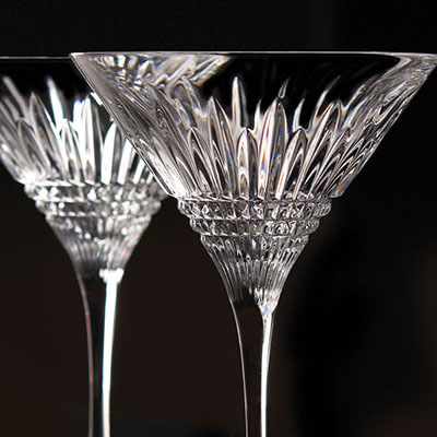 Waterford Crystal, Lismore Diamond Crystal Martini, Pair