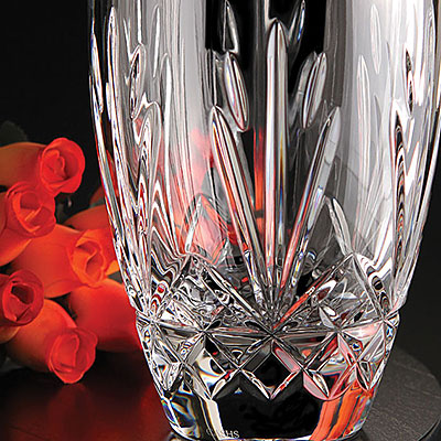 "Cashs Crystal Annestown 10"" Rose Vase"