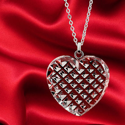 Cashs Ireland, Crystal Ireland's True Heart Pendant Necklace, Medium