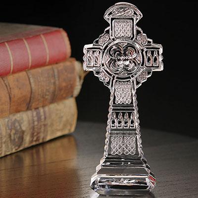 Cashs Ireland, Celtic Crystal Cross Sculpture