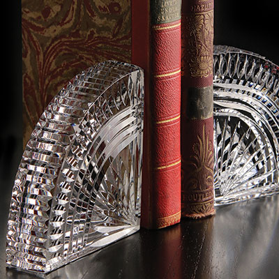 Cashs Ireland, Art Collection, Irish Rainbow Crystal Bookends, Pair