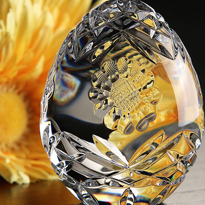 Cashs Ireland, Sunflower Crystal Egg