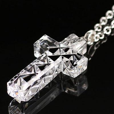 Cashs Ireland, Crystal Irish High Cross Pendant Necklace