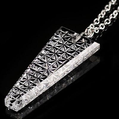 Cashs Ireland, Crystal Irish Lace Pendant Necklace, Large