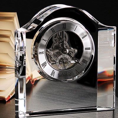 Cashs Ireland, Manach Large Desk Crystal Clock