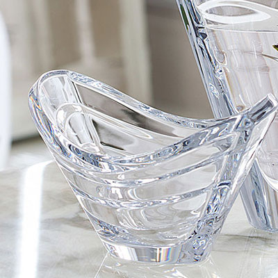 Baccarat Wave Clear Bowl