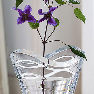 "Baccarat Wave Medium 11 3/4"" Vase"