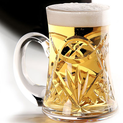 Cashs Crystal Celtic Ring Original Beer Tankard