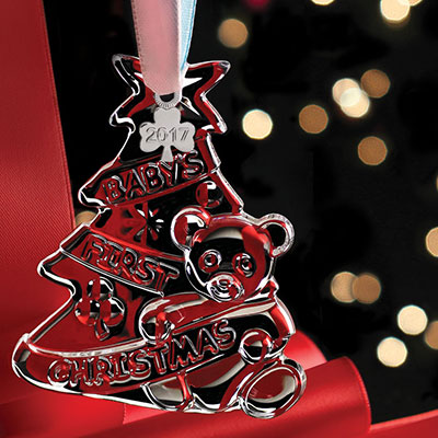 Cashs Ireland, Baby's First Christmas 2017 Crystal Ornament