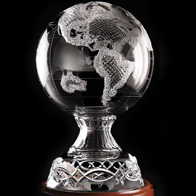 Cashs Ireland Art Collection, Celtic Ring World Globe, Limited Edition
