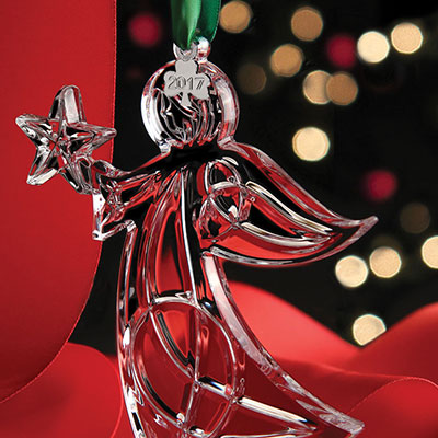 Cashs Crystal Angel with Star 2017 Ornament