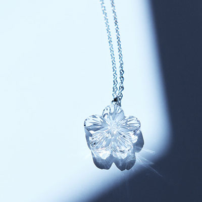 Cashs Ireland, Crystal Forget Me Not Pendant Necklace, Small