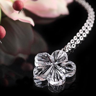 Cashs Ireland, Crystal Forget Me Not Pendant Necklace, Medium