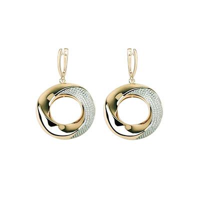 Cashs Ireland Bond 18k Gold and Crystal Earrings, Pair