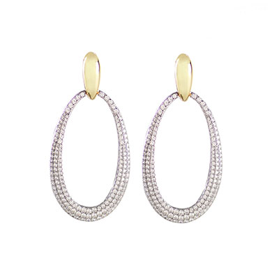 Cashs Ireland, Inspire Gold and Crystal Teardrop Pierced Earrings