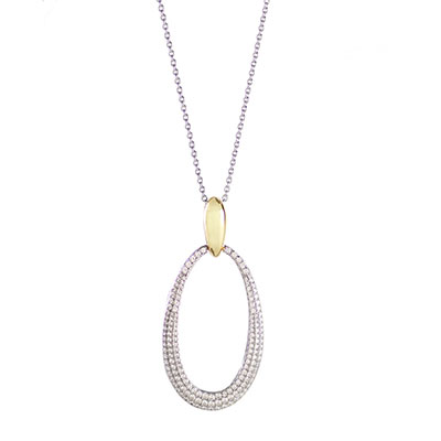Cashs Ireland, Inspire Gold and Crystal Teardrop Pendant Necklace