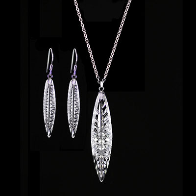 Cashs Ireland, Angel Feather Sterling Silver Pendant and Earring Gift Set
