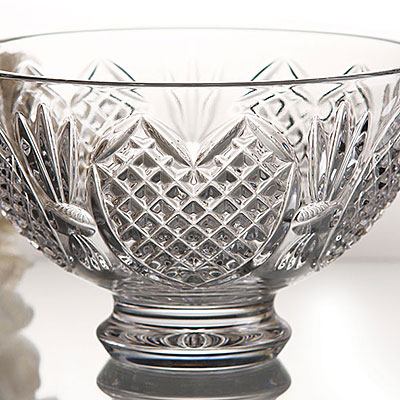 "Waterford Crystal, Wedding Heirloom 8"" Crystal Bowl"