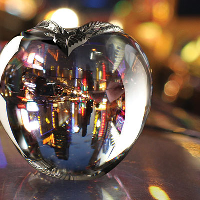 Cashs Ireland, Big Apple Crystal Paperweight