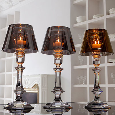 Baccarat Crystal, Our Fire Crystal Candleholder By Philippe Starck
