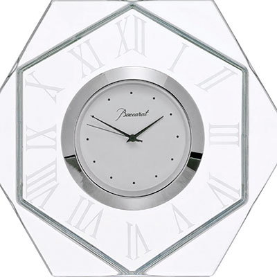 Baccarat Crystal, Harcourt Abysse Crystal Clock, Large