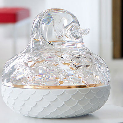 Baccarat Crystal, The Zoo, Duck, Clear