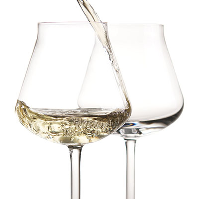 Chateau Baccarat Crystal, Degustation Crystal White Wine, Boxed Pair