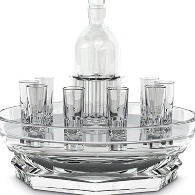 Baccarat Crystal, Harcourt Abysse Vodka Set