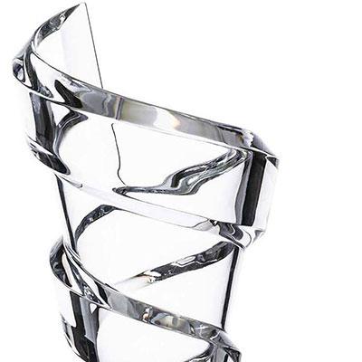 """Baccarat Crystal, Spirale 10"""" Crystal Vase"""