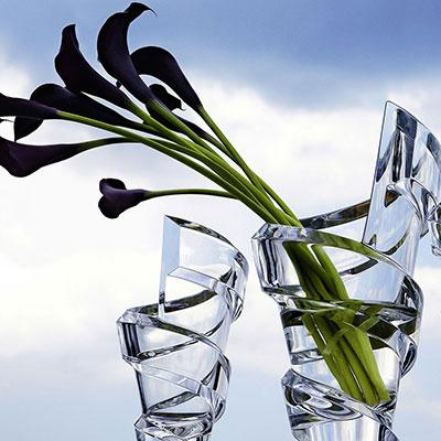Baccarat Crystal, Spirale Bud Crystal Vase