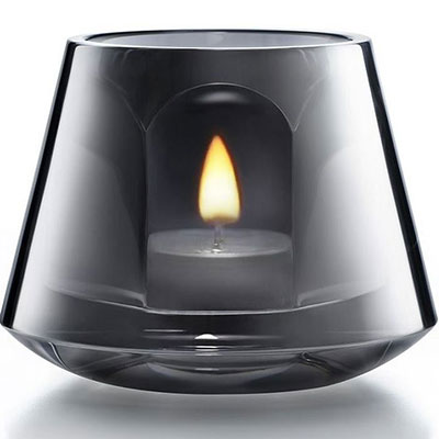 Baccarat Crystal, Harcourt Baby Our Fire Crystal Votive, Silver