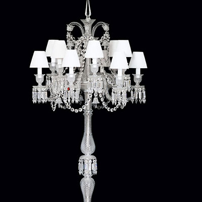 Baccarat Crystal, Zenith 12 Light Electric Floor Crystal Candelabra