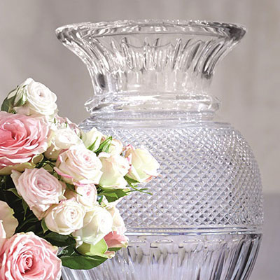 Baccarat Crystal, Diamant Balluster Crystal Vase