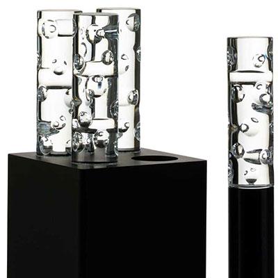 Baccarat Jallum Pontil Candle Light, Set Of 4, Black
