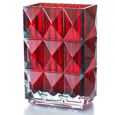 Baccarat Crystal, Louxor Crystal Vase, Red