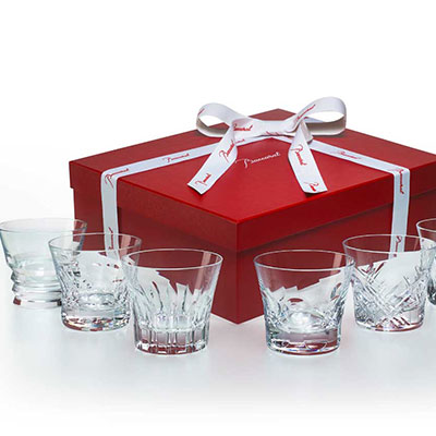 Baccarat Crystal, Everday Classic Assorted DOF Tumblers, Gift Boxed Set of 6