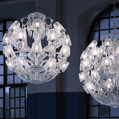 Baccarat Crystal, Le Roi Soleil 24 Light Crystal Chandelier