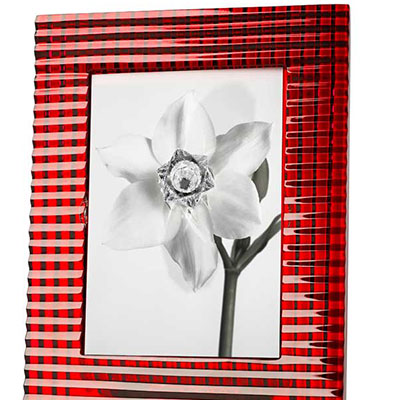 Baccarat 5x7 Eye Picture Frame, Red