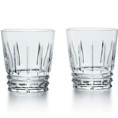 Baccarat Crystal, Arlequin Crystal Old Fashioned Tumbler #3, Pair
