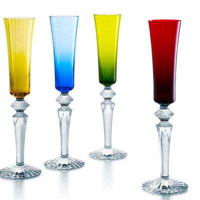Baccarat Crystal, Mille Nuits Flutissimo Crystal Flutes, Set of 4