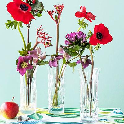 Baccarat Crystal, Flora Bud Crystal Vases, Set of 3