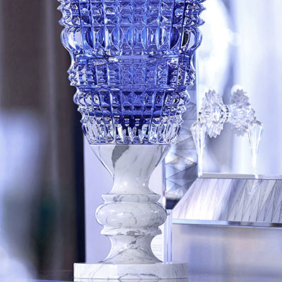 Baccarat New Antique Blue Vase, Limited Edition